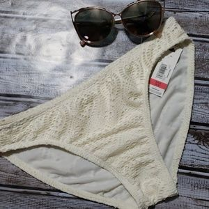 Ivory Lace Bathing Suit Bottoms NWT Sz. S